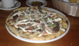 Beef tenderloin pizzette at 518 West
