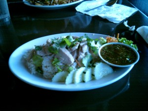Hainanese Chicken Rice at Twisted Noodles