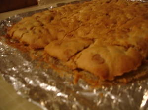 Butterscotch cookie (cake) bars