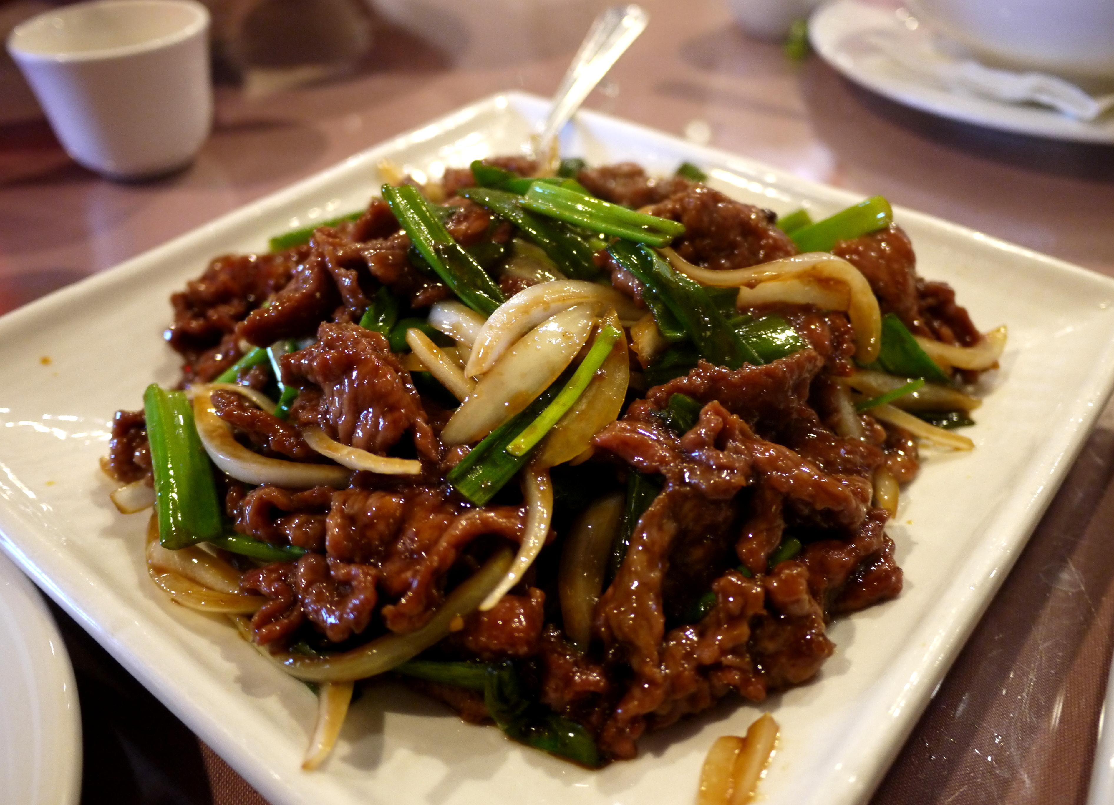 [SD Kearny Mesa] Szechuan food at Dede's Teajuice City ... Szechuan Beef
